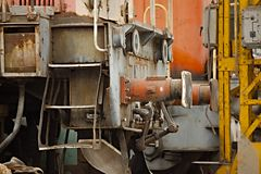 Abandoned railway vehicles Stock Image