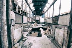 abandoned railway wagon Stock Photo