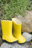 Abandoned rain boots Stock Photo