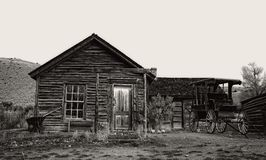 Abandoned Ranch House in Bannack, Mt Royalty Free Stock Image