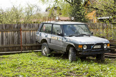 Abandoned Range Rover used in competitions Royalty Free Stock Image