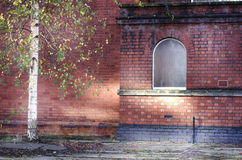 Abandoned red bricks building in Stockport, England, Europe Royalty Free Stock Photography