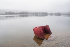 Abandoned red seat Royalty Free Stock Photos