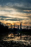 Abandoned refinery Stock Image
