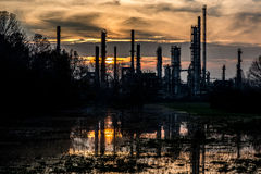 Abandoned refinery Stock Photo