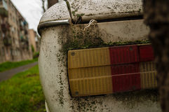 Abandoned retro car zaz Stock Photo