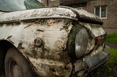Abandoned retro car zaz Stock Photos