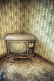 Abandoned Retro Television Royalty Free Stock Photo