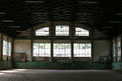 Abandoned riding hall without horses and horsemen Royalty Free Stock Photography