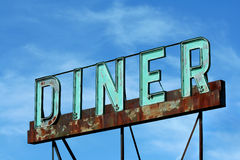 Abandoned roadside diner sign Royalty Free Stock Photography