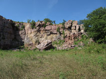Abandoned Rock Quarry. An abandoned Sioux quartzite quarry in South Western Minnesota royalty free stock photos