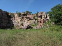 Abandoned Rock Quarry Royalty Free Stock Photos