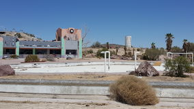 Abandoned rockahoola water park in Newberry Springs California Royalty Free Stock Photos