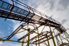Abandoned rollercoaster and sky Royalty Free Stock Photography