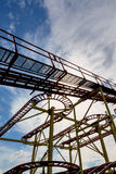 Abandoned rollercoaster and sky Royalty Free Stock Photo
