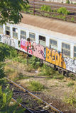 Abandoned romanian train in depot Royalty Free Stock Photography
