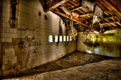 Abandoned room. Old abandoned room...HDR photo made from 9 different exposures royalty free stock photos