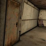 Abandoned Room. 3D Render of an Abandoned Room vector illustration