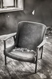 Abandoned room with chair. Royalty Free Stock Images