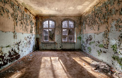 Abandoned room. With cracked walls Royalty Free Stock Photo