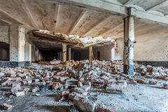 Abandoned room of an old factory Royalty Free Stock Photography