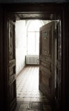 Abandoned room in old house Stock Photo