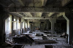 Abandoned room in RLS Duga stock images