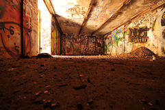 Abandoned room with rubble on floor Royalty Free Stock Images