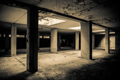 Abandoned room with sun lights Royalty Free Stock Image