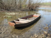 Abandoned rowing-boat Royalty Free Stock Images