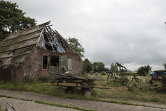 Abandoned ruin of a dutch farmhouse Royalty Free Stock Image
