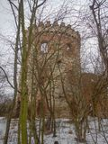 Abandoned ruin of a medieval tower Stock Photos