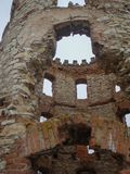 Abandoned ruin of a medieval tower Royalty Free Stock Photo