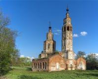 Abandoned ruined Church in Russia. Kolentsy, Ryazan royalty free stock photos
