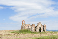 Abandoned and ruined Farmhouse in Tuscany Stock Photos