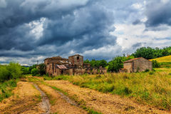 Abandoned ruined village in Tuscany Stock Images