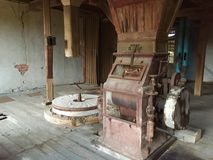 Abandoned and ruined water mill Royalty Free Stock Images