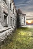Abandoned  ruins of a castle in transylvania, Boncida, Romania Royalty Free Stock Photos