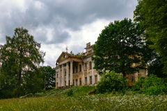 Abandoned ruins of classical palace.  Royalty Free Stock Image