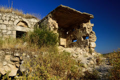 Abandoned ruins on the hills. Royalty Free Stock Photography