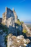 Abandoned ruins of medieval Plavecky castle in autumn. Abandoned ruins of medieval Plavecky castle  in autumn Stock Photos
