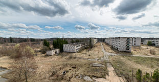 Abandoned ruins of military settlement Stock Photo