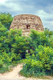 Abandoned ruins of the old castle tower Stock Image