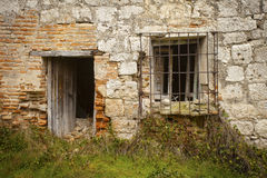 Abandoned Rural House. Castilla y Leon, Valladolid, Spain Stock Photography