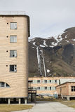 The abandoned russian mining town Pyramiden in Svalbard, Spitsbe Royalty Free Stock Photo