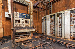Abandoned rust control panel Royalty Free Stock Images