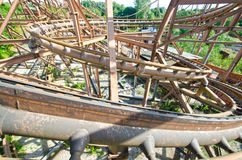 Abandoned Rusting Roller Coaster Royalty Free Stock Photography