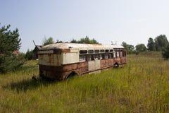 Заброшенный автобус в Припяти Stock Photography