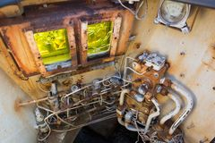 Заброшенный автобус в Припяти Royalty Free Stock Photo