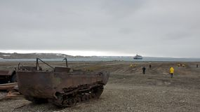 An Abandoned Rusty Mining Machine Stock Photo